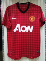 Retro Manchester United Home Soccer Jerseys 2012/13