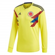 Colombia Home Soccer Jersey Shirt LS 2018 World Cup
