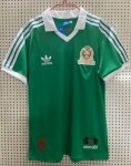 Retro Mexico Home Green Soccer Jerseys 1986