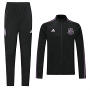 Mexico 2019 Black&Purple High Neck Collar Training Kit(Jacket+Trousers)
