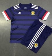 Children Scotland Home Soccer Suits 2020 EURO Shirt and Shorts