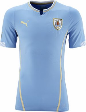 2014 FIFA World Cup Uruguay Home Soccer Jersey