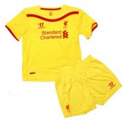 Kids Liverpool 14/15 Away Soccer Jersey(Shirt+Shorts)