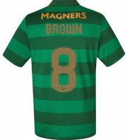 Celtic Away Soccer Jersey 2017/18 Brown #8