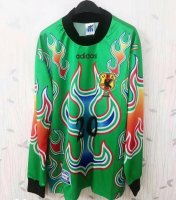 Retro Japan Goalkeeper Green Soccer Jerseys 1998