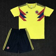 Kids Colombia Home Soccer Kit 2018 World Cup (Shirt+Shorts)