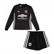 Manchester United Away Soccer Kits 2017/18 shirt and shorts Kids LS