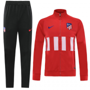 19-20 Atletico Madrid Red&White High Neck Collar Training Kit(Jacket+Trouser)