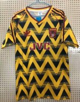 Retro Arsenal Away Yellow Soccer Jerseys 1991/93