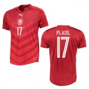 Czech Republic Home Soccer Jersey 2016 17 Plasil