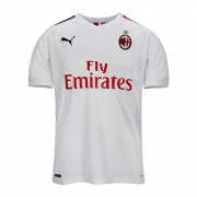 Player Version AC Milan 19/20 Away White Soccer Jerseys Shirt