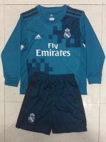 Real Madrid Third soccer suits 2017/18 shirt and shorts Kids LS