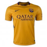 Barcelona Away Soccer Jersey Yellow 2015-16