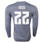 Real Madrid LS Away Soccer Jersey 2015-16 ISCO #22