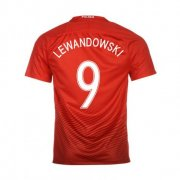Poland Away Soccer Jersey 2016 9 Lewandowski