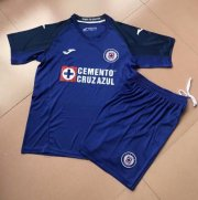 Children Cruz Azul Home Blue Soccer Suits 2019/20 Shirt and Shorts