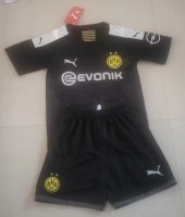 Children Dortmund Away Soccer Suits 2019/20 Shirt and Shorts