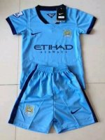 Kids Manchester City 14/15 Home Soccer Kit(Shorts+Shirt)
