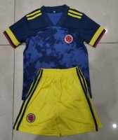Children Colombia Away Soccer Suits 2020 Shirt and Shorts