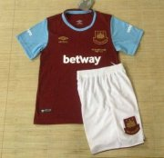 Kids West Ham Home Soccer Kits 2015-16 (Shirt+Shorts)