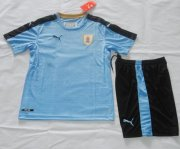 Kids Uruguay Home Soccer Jersey 2016-17 With Shorts