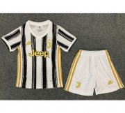 Children Juventus Home Soccer Suits 2020/21 Shirt and Shorts