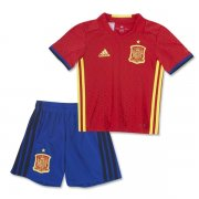 Kids Spain Home Soccer Kit 2016 Euro (Shirt+Shorts)