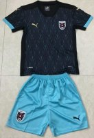 Children Austria Away Soccer Suits 2020 EURO Shirt and Shorts