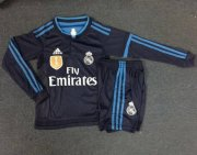 Kids Real Madrid Third Long Sleeve Kit 2015-16(Shirt+Shorts)