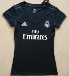 Women Real Madrid Away Soccer Jersey 2018/19 Black