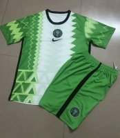 Children Nigeria Home Soccer Suits 2020 Shirt and Shorts