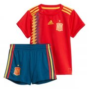 Kids Spain Home Soccer Kit 2018 World Cup (Shirt+Shorts)