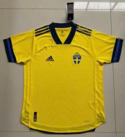 Sweden Home Authentic Soccer Jerseys 2020