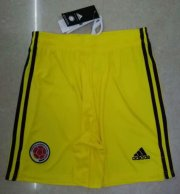 Colombia Away Yellow Soccer Shorts 2020
