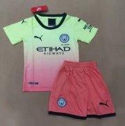 Children Manchester City Third Away Soccer Suits 2019/20 Shirt and Shorts