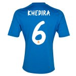 13-14 Real Madrid #6 Khedira Away Blue Soccer Jersey Shirt