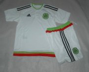 Kids Mexico Away Soccer Kit 2015 (Shorts+Shirt)