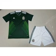 Kids Mexico Home Soccer Jersey 2017 With Shorts