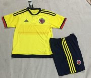 Kids Colombia Home Soccer Kit 2015 (Shorts+Shirt)