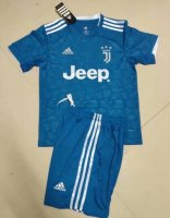 Children Juventus Third Away Soccer Suits 2019/20 Shirt and Shorts