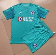 Children Cruz Azul Third Away Green Soccer Suits 2019/20 Shirt and Shorts