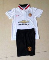 Kids Manchester United 14/15 Away Soccer Jersey(shirt+shorts)