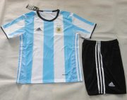 Kids Argentina Home Soccer Jersey 2016-17 With Shorts