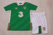 Kids Ireland Home Soccer Jersey 2016 Euro With Shorts