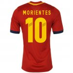 2013 Spain #10 Morientes Red Home Soccer Jersey Shirt