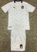 Children Italy Away Soccer Suits 2020 EURO Shirt and Shorts