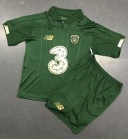 Children Ireland Home Soccer Suits 2020 EURO Shirt and Shorts