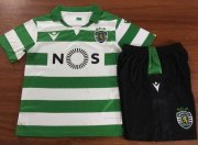 Children Sporting CP Home Soccer Suits 2019/20 Shirt and Shorts