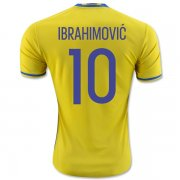 Sweden Home Soccer Jersey 2016 IBRAHIMOVIC #10