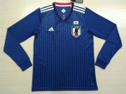 Japan Home Soccer Jersey LS 2018 World Cup